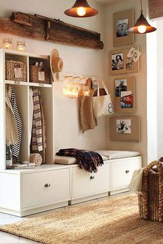 Simple Organized Entryway Ideas-  change type of baskets and theme
