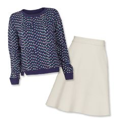 Combo 6: Pull Off A Sweatshirt - 12 Perfect Skirt-and-Sweater Pairings - Fall Fashion Trends 2013 - Fashion - InStyle.com