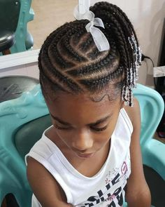 This is an impressive braid hairstyle for kids. This hairstyle will definitely change her look [& The post This is an impressive braid hairstyle for kids. This hairstyle will definitely c& appeared first on Trending Hair styles. Little Girl Braids, Braids For Kids, Girls Braids, Little Girl Hairstyles, Black Hairstyles, Hairstyles 2018, Children Hairstyles, Layered Hairstyles, Braids For Black Kids