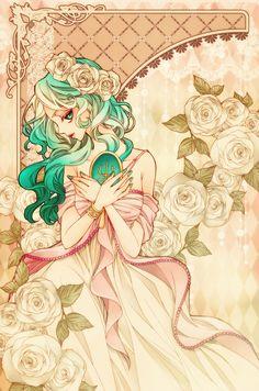 セーラーネプチューン / 海王みちる Sailor Neptune / Michiru Kaioh by sizh - Sailor Moon fan art Sailor Moons, Sailor Neptune, Sailor Saturn, Sailor Moon Crystal, Arte Sailor Moon, Sailor Moon Fan Art, Sailor Scouts, Manga Comics, Manga Anime