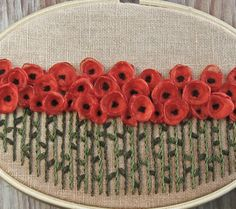 "Pretty Poppyflower embroidery on ""little chief honeybee"" blog"
