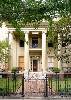 "Kent-Valentine House, Richmond, Virginia, 1845 Greek Revival. The setting for ""A…"