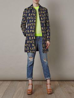 Kenzo leopard-print reversible coat