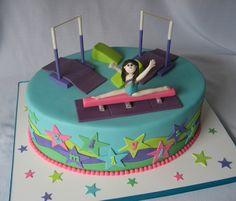 Gymnastics cake   by Cake Diane Custom Cake Studio (eyedewcakes)