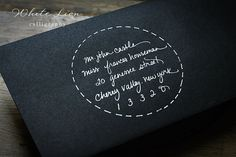 great idea for how to address envelopes beautifully