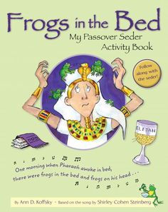 """Keep young children interested and engaged during the seder with this humorously illustrated version of the popular song """"One Morning (The Frog Song)"""" by Shirley Cohen Steinberg. The book also includes activities that connect children to touchpoints in the seder, helping them understand what's happening around them."""