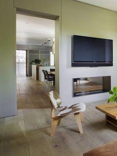Modern White Oak Living Room