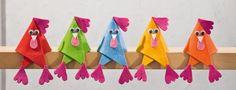 Ostern basteln mit Filz Cute idea in German Kids Crafts, Felt Crafts, Diy And Crafts, Arts And Crafts, Chicken Crafts, Chicken Art, Easter Art, Easter Crafts, Chicken Humor