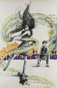 "Saatchi Art Artist Sara Riches; Collage, ""My Need, For Music"" #art"