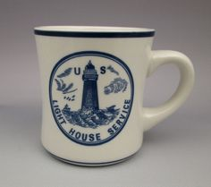 U.S. Lighthouse Service mug The Navy Blue Collection DD Lines Charleston SC