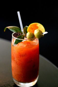 TEQUILLA HANGOVER CURE:  Bloody Mary