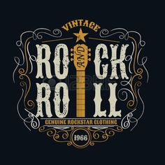 grunge: vintage rock and roll typograpic for t-shirt ,tee designe,poster,flyer,vector illustration