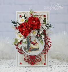 Christmas card with red - Scrapbook.com