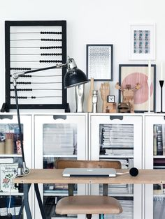 Maurie & Eve blog, magazine cabinet, office space