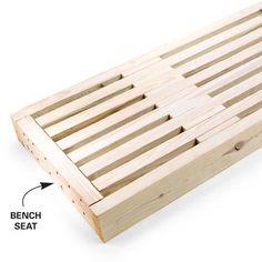 Slatted bench 2