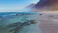 Misty Cliffs Scarborough Cape Town - Painting by Andrew Cooper Andrew Cooper, South African Artists, Seascape Paintings, Learn To Paint, Cape Town, Ocean, World, Beach, Places