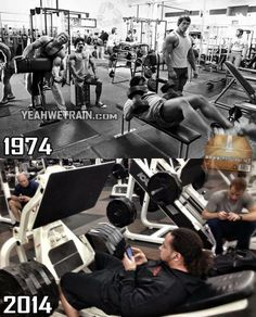 How times change... - http://absextreme.com/gym-memes/how-times-change