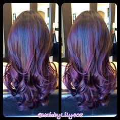 Red violet ombré purple balayage, purple ombre, purple highlights, hair c. Black Balayage, Balayage Hair, Plum Hair, Purple Hair, Purple Ombre, Burgundy Hair, Dark Purple, Dark Brown, Hair Color And Cut