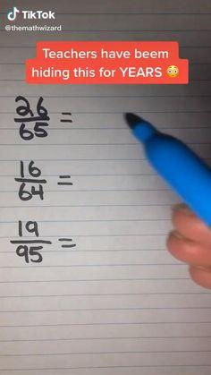 Cool Math Tricks, Maths Tricks, Math Hacks, Math Tutorials, Math Tips, Math Strategies, Math Resources, Math Lessons, Math Activities