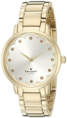 kate spade new york Womens KSW1047 Gramercy Analog Display Analog Quartz Gold Watch *** Be sure to check out this awesome product.