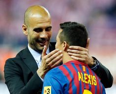 Manchester City are increasingly confident of sealing a move for Arsenal forward Alexis Sanchez during this month's transfer window. Transfer Rumours, Pep Guardiola, Manchester City, Espn, Arsenal, Soccer, Couple Photos, Confident, Boss