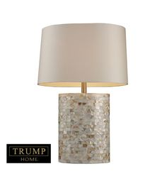 Dimond Trump Home Sunny Isles 1 Light Table Lamp in Mother Of Pearl D1413