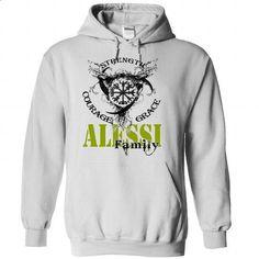 ALESSI Family - Strength Courage Grace - #pullover hoodies #crew neck…