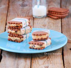 Sweet potato cream chocolate sandwich -  Sandwich de chocolate con crema de boniato