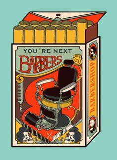 ファンキーで尖ったデザイン。昔ながらの理髪店のポスターデザインがクールでカッコイイ!!