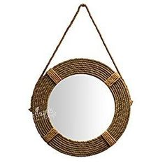 Best Rope Mirrors and Nautical Wall Decor! Discover the top-rated nautical themed rope wall decorations and rope themed mirrors. Nautical Bathroom Mirrors, Nautical Mirror, Nautical Wall Decor, Beach Wall Decor, Nautical Rope, Round Mirror With Rope, Rope Mirror, Top Rated, Hanging Mirrors