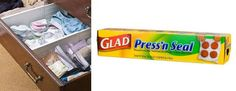 Keep drawers intact by covering them with Press'n Seal. | 33 Moving Tips That Will Make Your Life So Much Easier