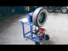 Универсальный дровокол. Двигатель WEIMA BT170FS - YouTube