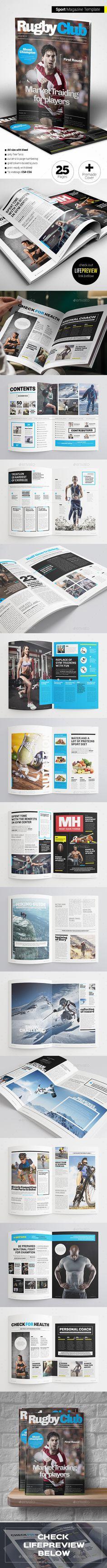Sport Magazine Template InDesign INDD #design Download: http://graphicriver.net/item/sport-magazine/13883213?ref=ksioks