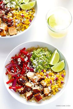 These Chicken Quinoa Burrito Bowls are easy to make, naturally gluten-free, made with protein-rich quinoa, and full of the tastiest fresh ingredients!