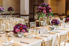 Purple and gold wedding inspiration at the Cleveland Renaissance -- photo by Aster & Olive, styling by Shi Shi Events