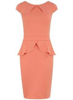 Trend 2013: Peplum Dresses or Skirts for a Chic Retro Look Dress chic embossed Basque peplum coral