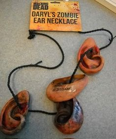 AMC's The Walking Dead Daryl Dixon Zombie Ear Necklace Collectible! Cosplay! Sold Out!