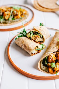 Smoky Cauliflower and Black Bean Hummus Burritos + Simply Vibrant Cookbook #vegan #hummus #burrito #cauliflower | Brewing Happiness