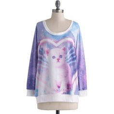 ModCloth Fairytale Mid-length Long Sleeve Sweatshirt Dream Come Mew Sweatshirt