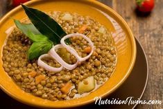 Green Lentil Soup |Only 193 Calories | Warm, Creamy & Satiating Comfort food | Great for making large batches for dinner leftovers |15 grams fiber|For MORE RECIPES, Fitness & Nutrition Tips please SIGN UP for our FREE NEWSLETTER www.NutritionTwins.com