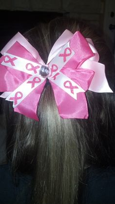 cf793ea151a8d Breast cancer hair bow  8 send orders to  gbrock14 gmail.com or  brock glenda yahoo.com