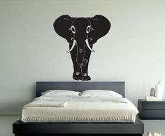 African Elephant Sticker Wall Vinyl Animal Hindu Mural Decal Decor Gift #270 #HomeOfStickers