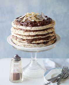 Choc-coconut macaroon cake :: Gourmet Traveller Magazine Mobile