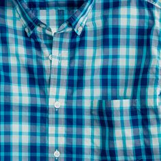 J Crew Secret Wash lightweight shirt in Rangley check
