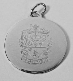 Kappa Delta Silver Crest Engraved Charm available in Good Things From Louisiana, an ebay store.