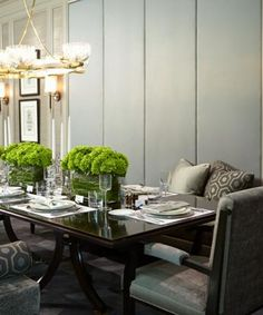 Lets take a closer look at this magnificent formal dining room by Harvey Wise Design  The colors of so muted and soft yet the room sparkles and shimmers with the silk on the chairs. Not the best picture. 2015 formal dining room designs