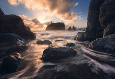 Ruby Beach Sunset by Nathaniel Merz on 500px