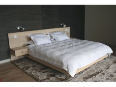 Custom crafted solid Ash bed with headboard & drawers