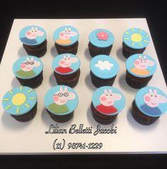 Mini cupcakes com tema Peppa Pig