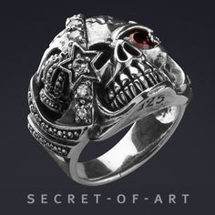 4ca5d4953f895 22 Stunning skull rings in best 925 silver images in 2018 | 925 ...